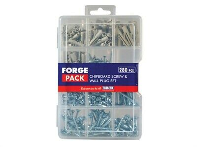 Forgefix Forfpspset Tornillo & Enchufe de Pared Kit Forge Pack 280 Piezas
