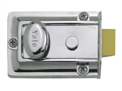 Yale Locks YAL77CH P77 Traditionnel Verrou 60mm Appuie-Tête Finition Chrome