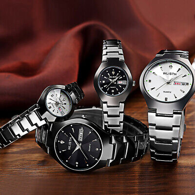 Luxury Couple Watches Quartz Watch Stainless Steel Dial Casual Bracelet Watches