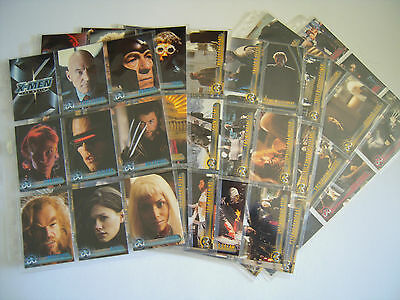 X Men The Movie  Set Complet 72 Cards+ 1 Promo X2 Of 4   2000 Tbe