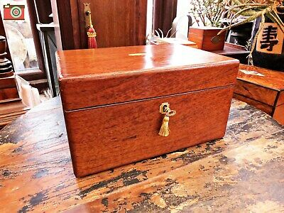 A Nice Original Victorian Jewellery Or Work Box With Drawer. Lovely Box