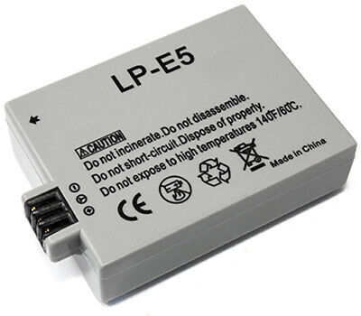 Replace f/ Canon LP-E5 LPE5 Battery for Rebel T 1i XSi EOS 500D 1000D Kiss X2 X3