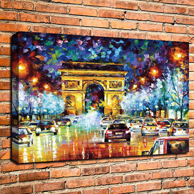 HD Print France Paris Street Art Home Wall Decor Oil Painting on Canvas Unframed