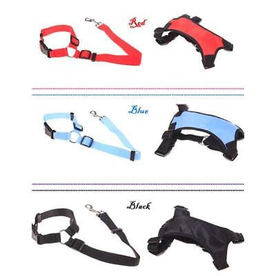 Breathable Air Mesh Puppy Dog Car Harness/Seat belt Clip Lead For Dog Pet SW