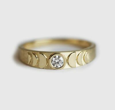 14k gold 1 tiny diamond pieces of exquisite small fresh ladies engagement ring