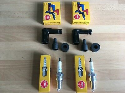 Honda Cb250 K3-K5 Cb250 G5 73-75 Cb360 G5 75 Ngk Spark Plugs And Black Caps