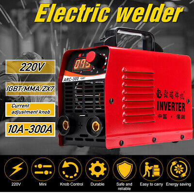 Portable LCD Welder 300A 300 Amps Welding Inverter IGBT MMA ARC Houshold 230V