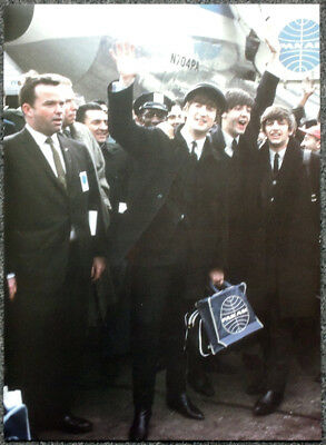The Beatles Poster Page . Jfk Airport  New York 7 Feb 1964 Boeing 707 Pan Am I26