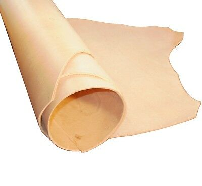 4Mm - 4.5Mm Thick Natural Veg Tan Craft Leather Buff Hide Choice Of Sizes