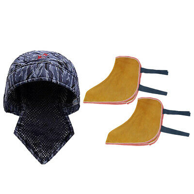 Welding Protective Shoes Spats 10'' Feet Cover Elastic Welding Hat Cap Scarf