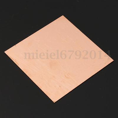 1mm Thick 99.9% Pure Copper Sheet Metal Plate Options Guillotine Cut  ❤