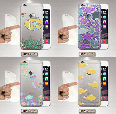 Cover for , Xiaomi, Ocean, Silicone, Soft, Cute, Animals, Medusa, Clear, Sea