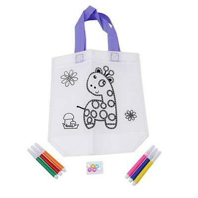 DIY Kids Craft Colouring In Educational Travel Activity Environmental Bag SW