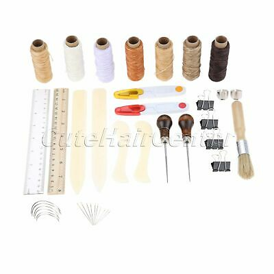 Handmade Leather Craft Tools Kit 2 Types Practical Stitching Sewing Carving Tool