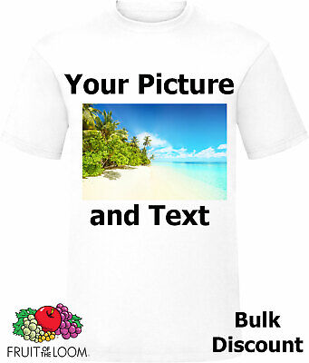 Personalised Tshirt Adults Mens Custom T shirt Top Stag Hen Holiday Gift Idea
