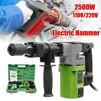 2500W Electric Demolition Hammer Drill Concrete Breaker Chisels Jackhammer