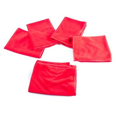 5 Pack Of Microfibre Cloths Rot (MEQ010) (#010)