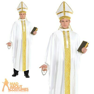 Adult Pontif Hat Religious Bishop Cardinal Pope Fancy Dress Costume Accessory