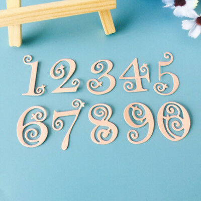 Figures Hollow Number Metal Cutting Dies For DIY Scrapbooking Photo Album SW