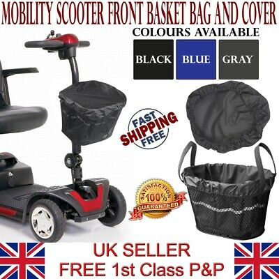 LTG Mobility Scooter Front Basket Bag Liner & Cover Waterproof Reflective Black