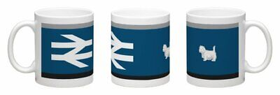 British Rail Class 37 Mug - Wrap Around Design New Br Scotrail Highland 47