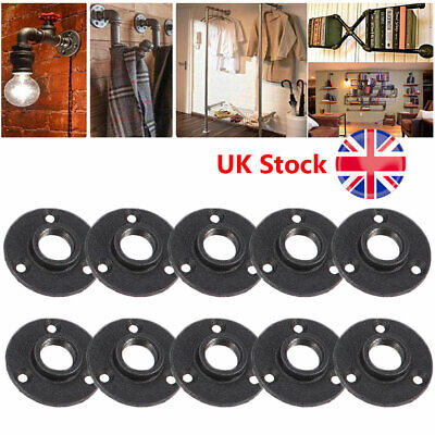 """10pcs Malleable Cast Iron Floor Flange 1/2"""" BSP 85mm Rusty for PLATE - FURNITURE"""