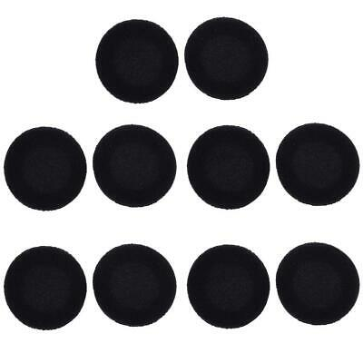 10pcs 35/40/45/50/55/60mm Foam Ear Pad Sponge Cover For Earphone Headset Black