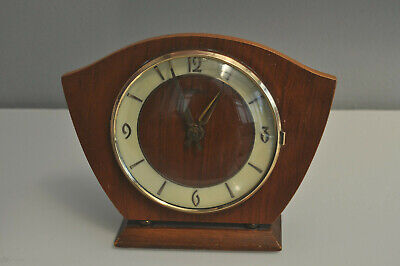 Vintage Ranela German Wood Art Deco Mantel Clock Wind Up Collectible Collectable