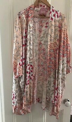 Peter Alexander Paisley Blossom Kimono Gown Size XS/S RRP$109.00
