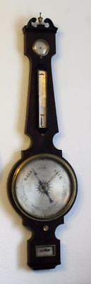 antique barometer square base S PINIE LONDON 13 BALDWINS GARDENS HOLBOURN