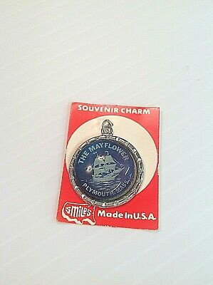 Vintage Plymouth Massachusetts Souvenir Charm The Mayflower Ocean Blue Smiles Co
