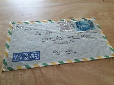 Brasil To Germany 1952 Cover Stamps Post Free Worldwide £4.99 Bx3