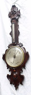 "antique 10"" dial two glass barometer GALLAGHAM LONDON"