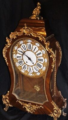 antique french boulle clock monumental size