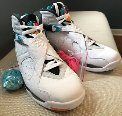 79803a3d3ea Air Jordan 8 Retro 'South Beach' White Turbo Green Multi 305381-113 Mens