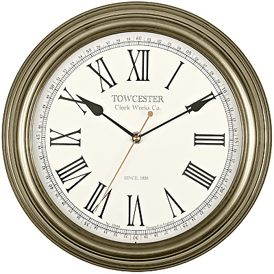'Redbourn' Antique Gold Effect Round Wall Clock by Acctim