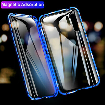 360° Magnetic Adsorption Case for Huawei P30 Lite/ Pro Double Sides Glass Cover