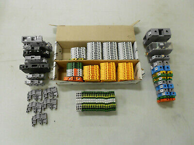 Mixed Lot of ABB & Entrelec New & Used End Barriers Fuse Holder TB's Terminal Bl