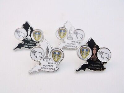 Derby County vs Leeds United 2019 Home & Away Playoffs Match Pin Badge