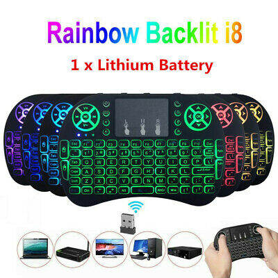 Wireless Touchpad Air Remote Mini KEYBOARD Backlit 2.4GHz For PC Android TV Box