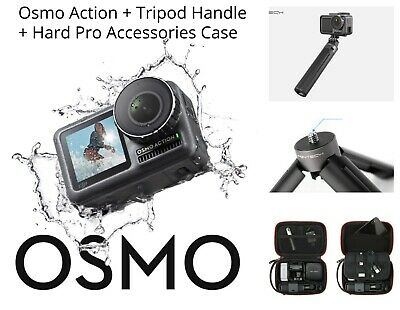 DJI Osmo 4K Action Camera + Action Camera Hard Case + Handheld Tripod Pro Bundle