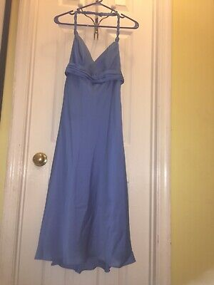 7ed02066c85 DAVIDS BRIDAL STRAPLESS horizon blue bridesmaid dress size 4 ...