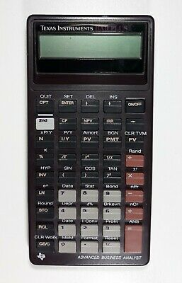 Texas Instruments BAII Plus Business Financial Economics Stat Analyst Calculator
