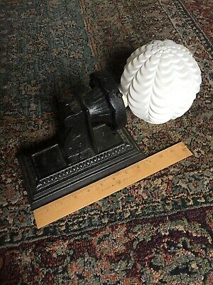 Antique Vintage Cast Iron  Bungalow Wall Sconce Porch Light Fixture