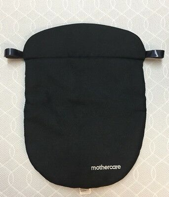 Mothercare Orb Carry Cot Apron Cover Weather Shield - Liquorice - VGC