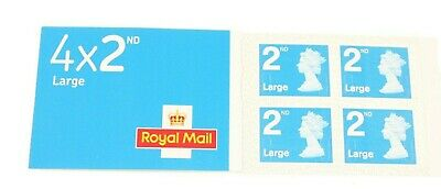 Royal Mail Second Class Large Letter Stamps Book Of X 4-2Nd Class Large Letter