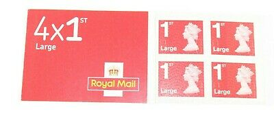 Royal Mail 1St Class Large Letter Stamps Book Of X 4 -First Class Stamps X 4