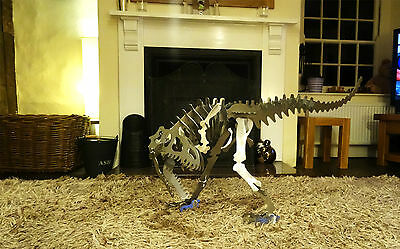 Steel Allosaurus dinosaur Large metal puzzle/kit - Over 4 ft long and 2 ft tall!