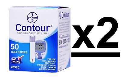 Bayer Contour Blood Glucose Test Strips 100 Ct 2 boxes Exp 11/2020+-Depend On Us