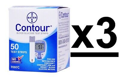 Bayer Contour Blood Glucose Test Strips 150 Ct 3 Boxes Exp 11/2020+-Depend On Us